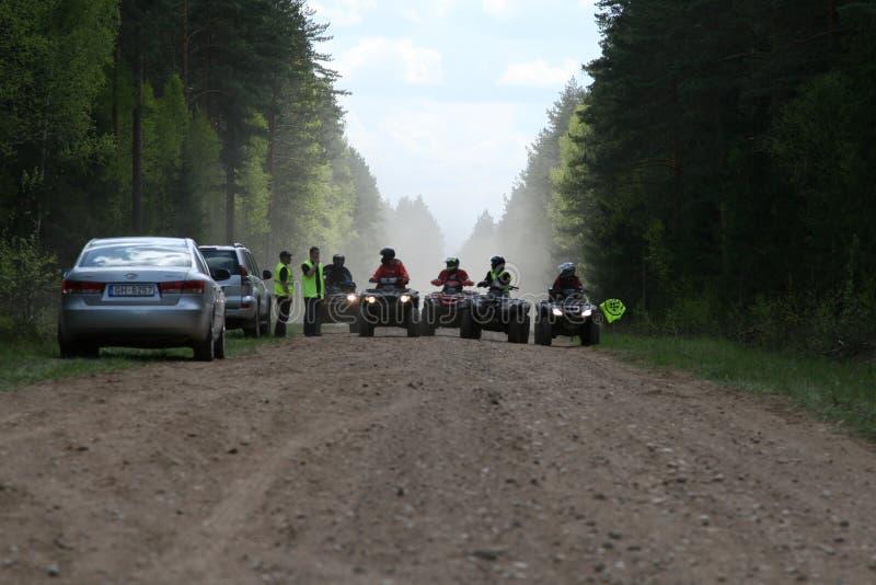 Offroad truck championship, Aluksne, Latvia, May 10, 2008. Participants in offroad truck championship, Aluksne, Latvia, May 10, 2008 stock images