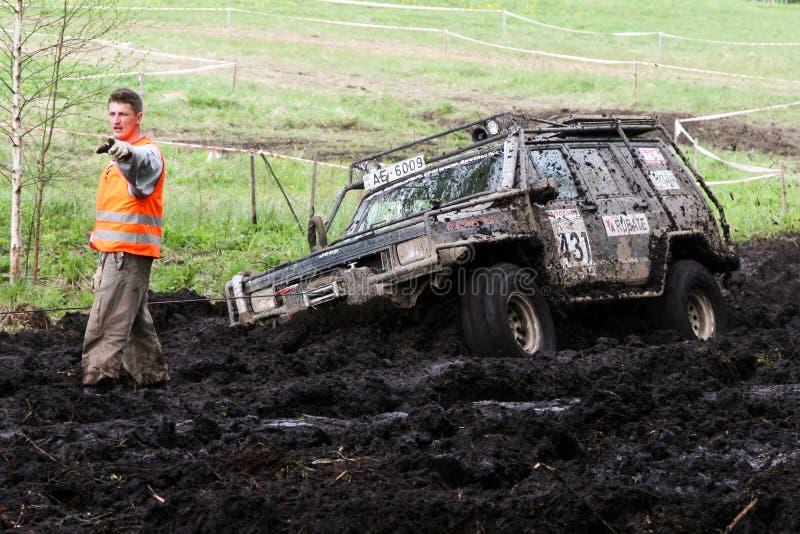 Offroad truck championship, Aluksne, Latvia, May 10, 2008. Participants in offroad truck championship, Aluksne, Latvia, May 10, 2008 stock photo
