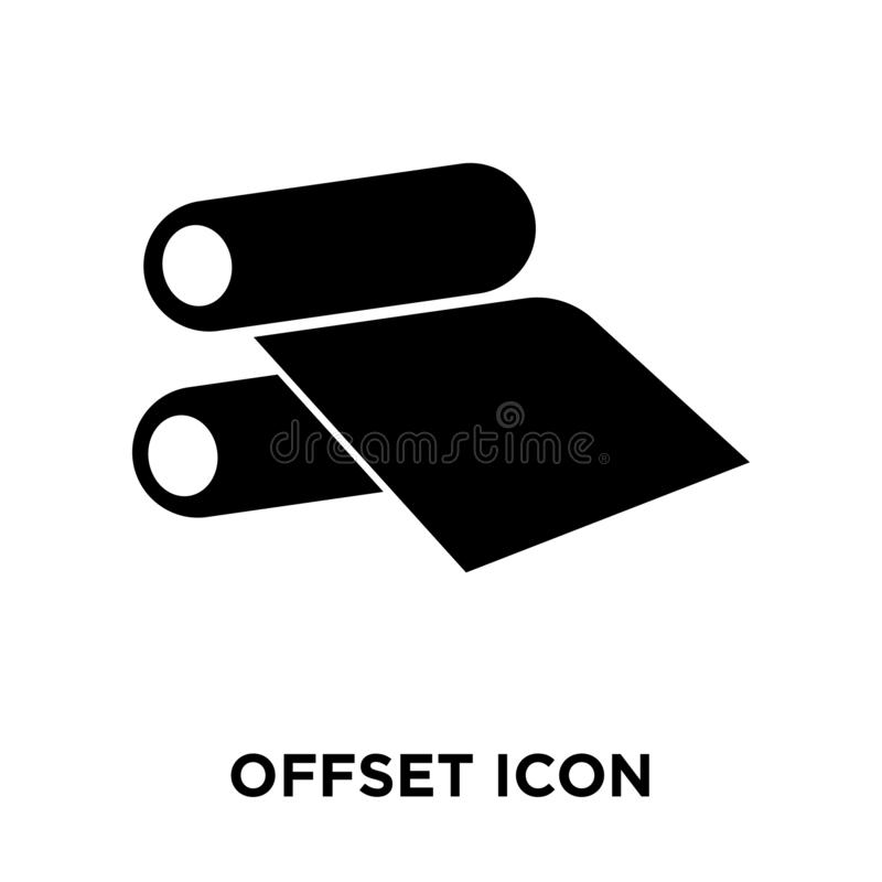 Offset icon vector isolated on white background, logo concept of royalty free illustration