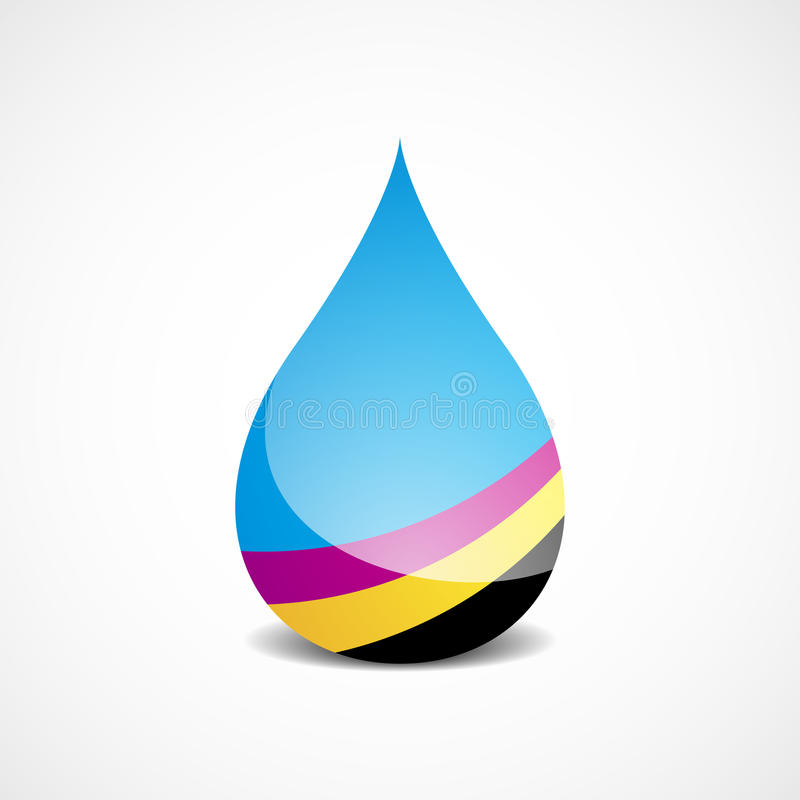 Offset Ink Drop Royalty Free Stock Photography
