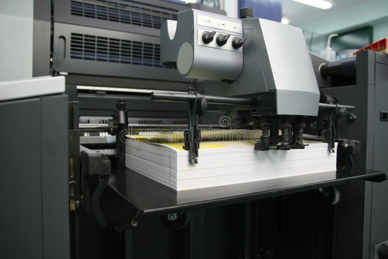 Download Offset machine stock image. Image of newspaper, document - 4158309