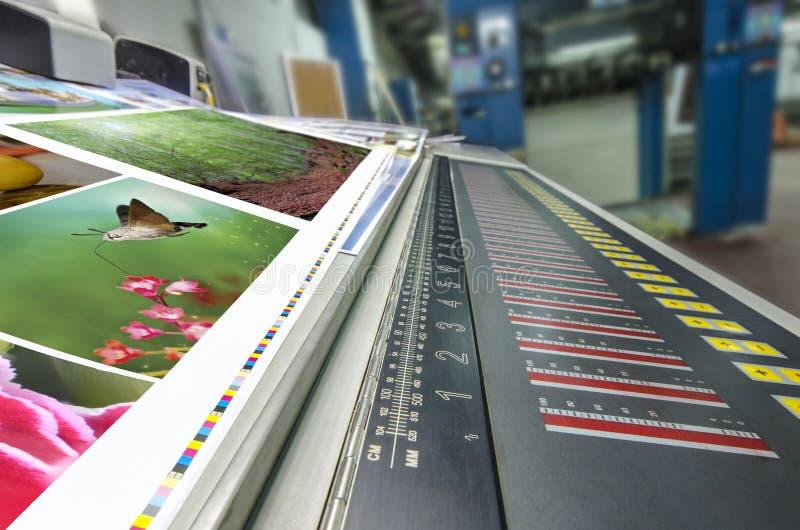 Offset machine press fountain control key unit stock photography