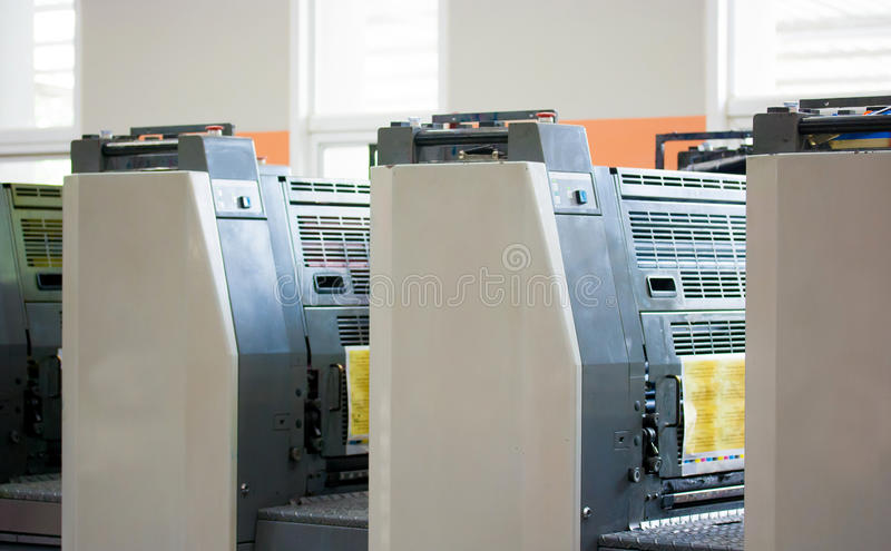 Offset machine royalty free stock images