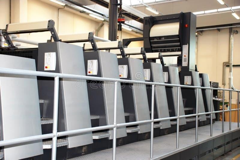 Offset press printing, detail stock image