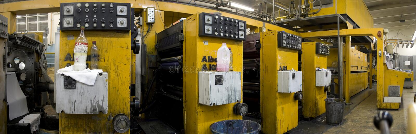 Offset printing machine royalty free stock photos