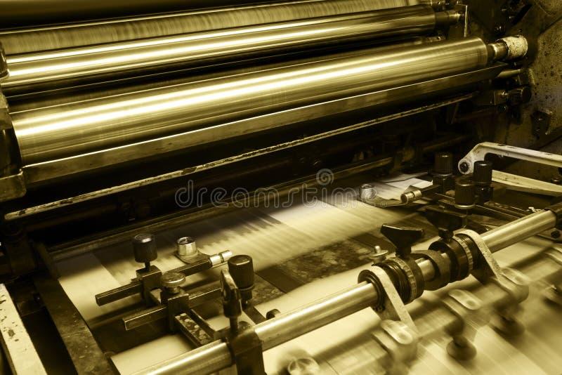 Offset printing machine stock images