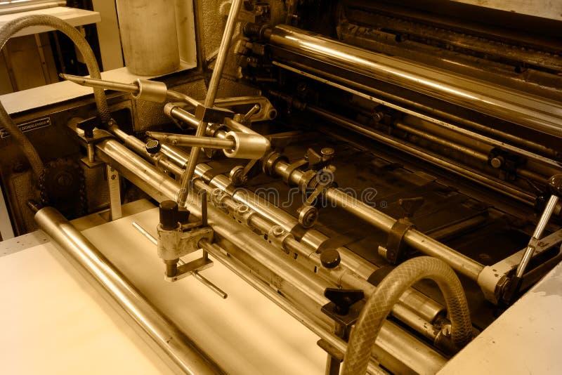 Offset printing machine stock photos