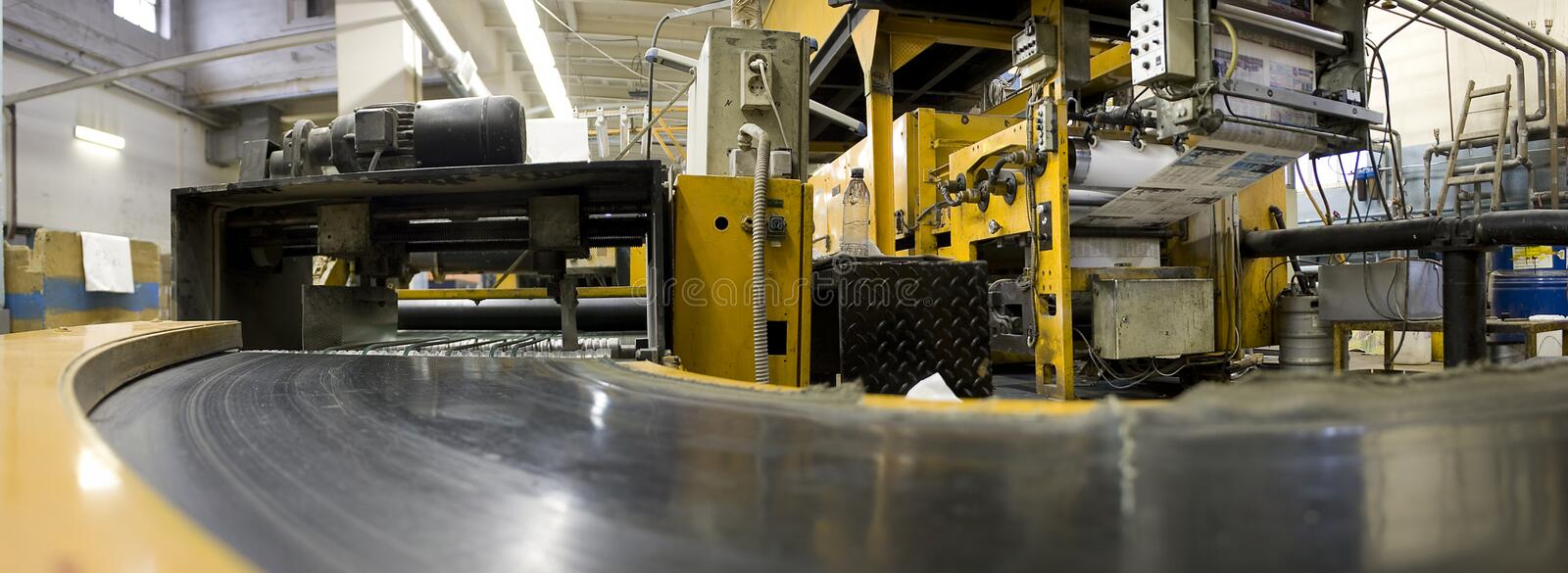 Offset printing press stock images