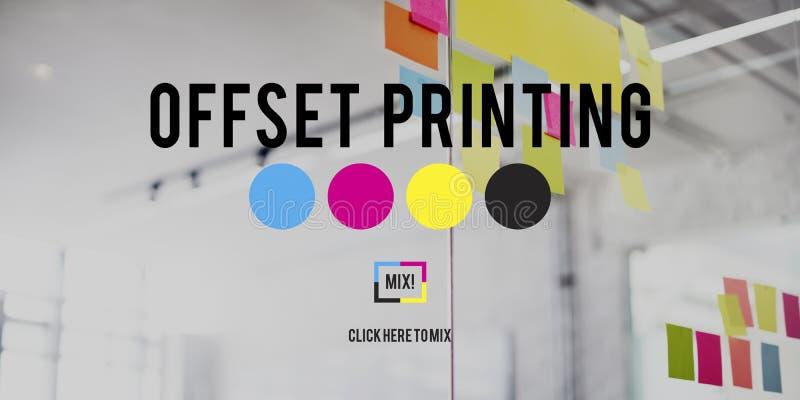 Offset Printing Process CMYK Cyan Magenta Yellow Key Concept royalty free stock photography