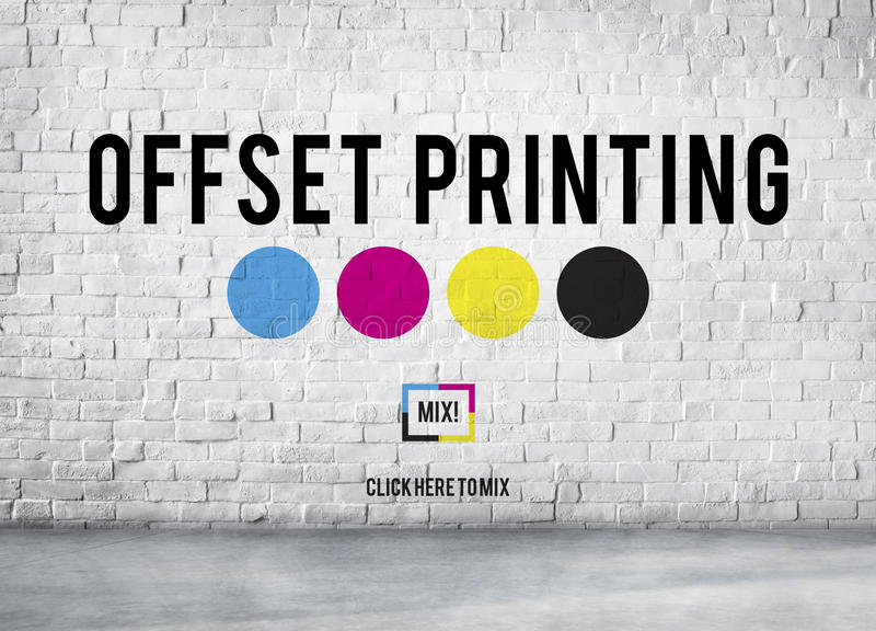 Offset Printing Process CMYK Cyan Magenta Yellow Key Concept royalty free stock photography