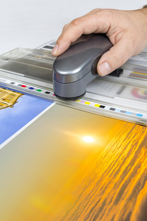 Offsetdrucksteuerung lizenzfreie stockbilder