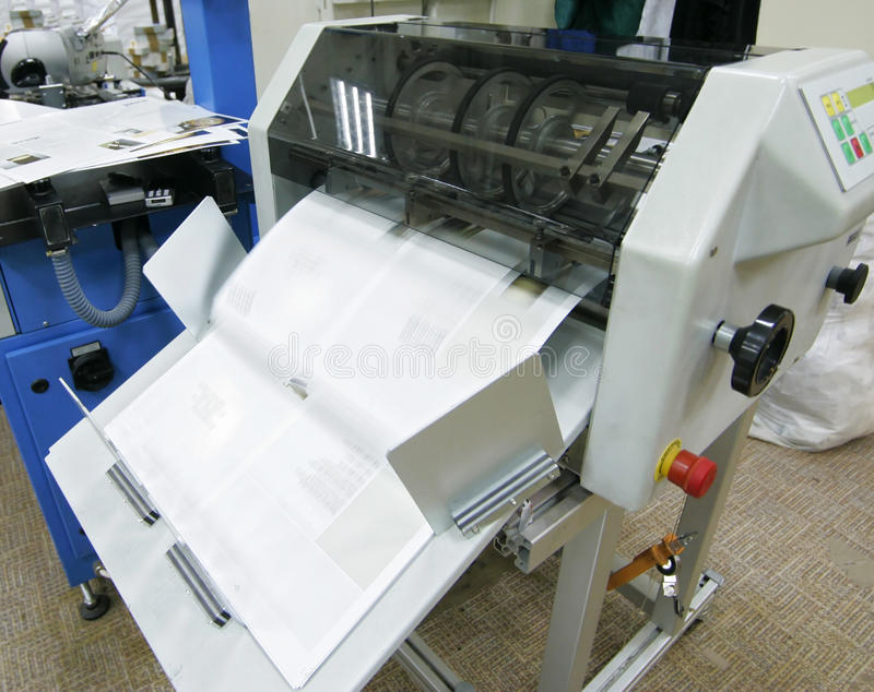 Offsetmaschine stockfotografie