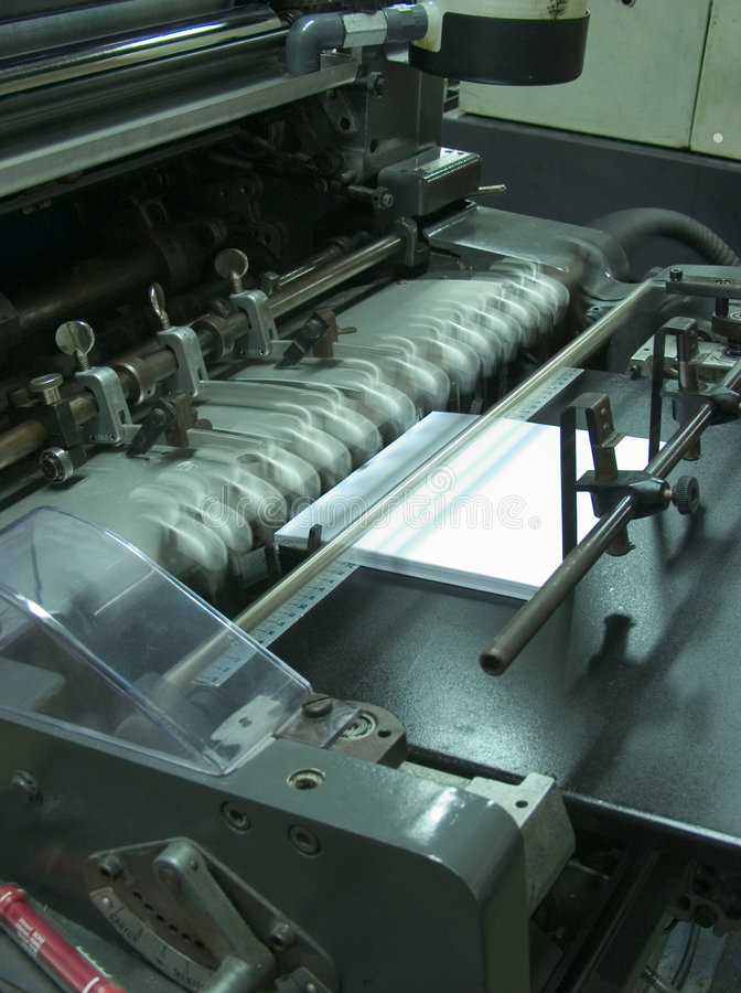 Offsetmaschinenfunktion stockfotos