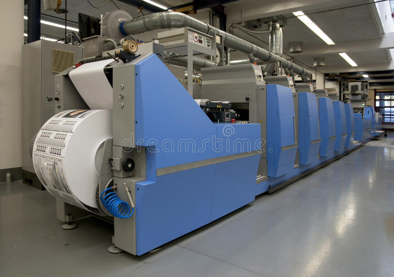 Offsetpressedrucken für Kennsätze stockfotografie
