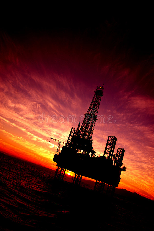 Offshore. Oil platform in the Red Sea