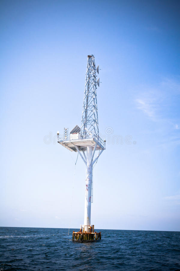 Offshore Communication Antenna royalty free stock images