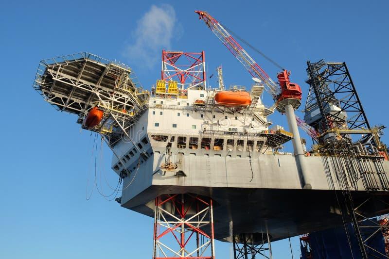 Offshore construction platform royalty free stock photos