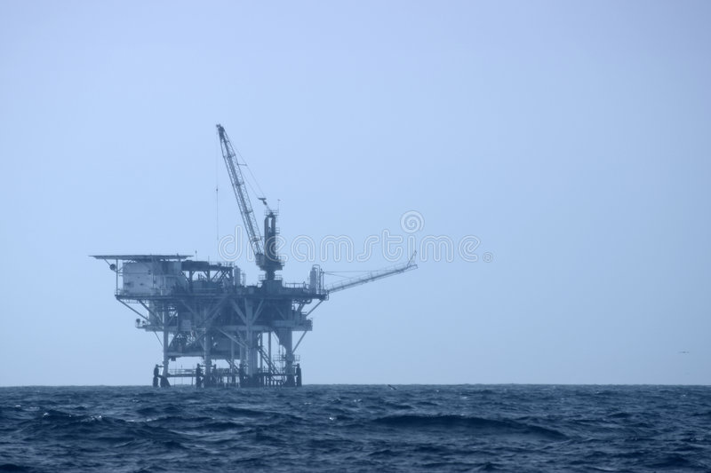 Offshore Drilling Platform stock photo