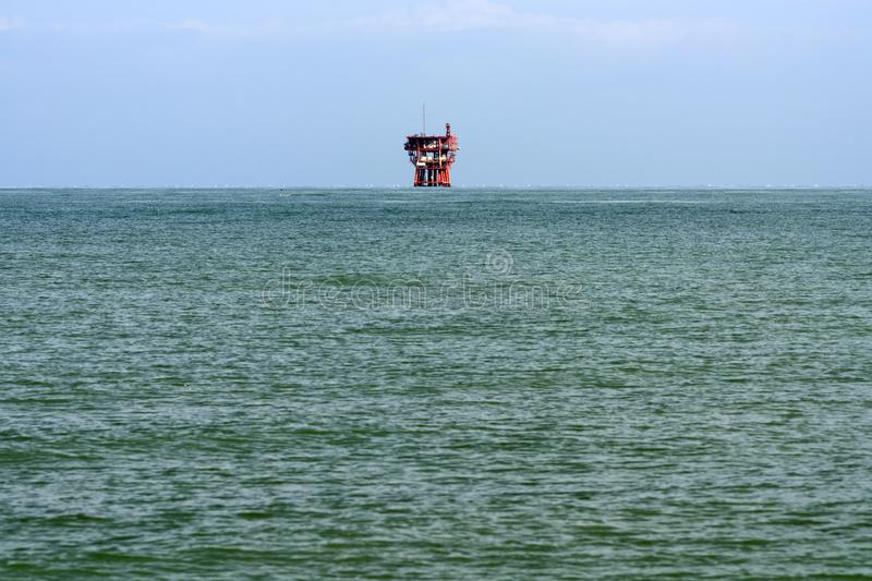 Offshore drilling platform. Adriatic sea offshore drilling platform stock photos