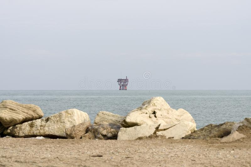 Offshore drilling platform. Adriatic sea offshore drilling platform stock photography