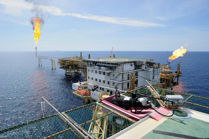 Offshore gas platform royalty free stock image