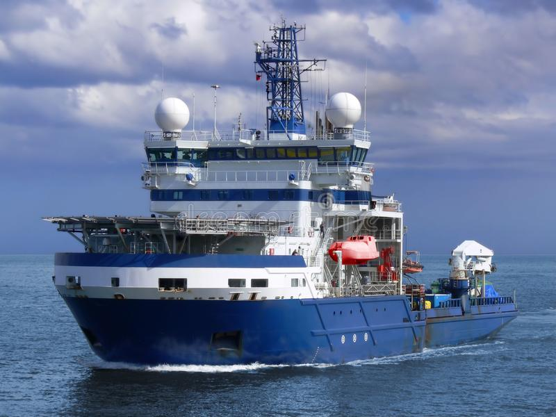 Offshore Icebreaker Underway at Sea. stock photography