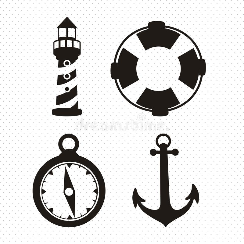 Offshore Icons vector illustration