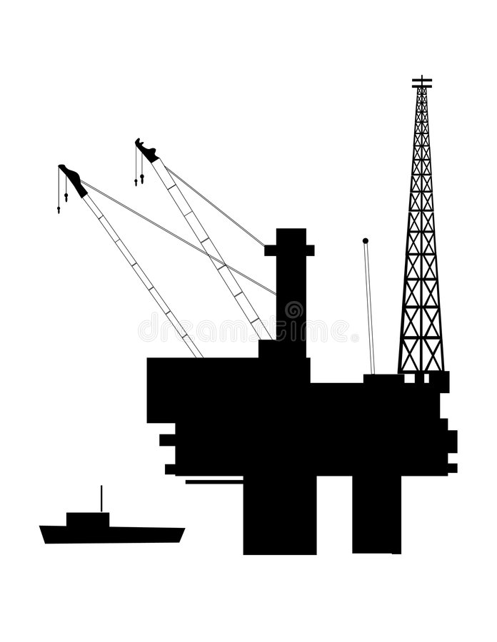 Download Offshore Oil stock vector. Image of black, machinery, illustration - 6260767