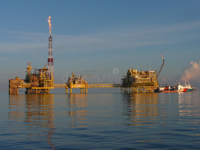 Offshore Oil & Gas Complex stock images