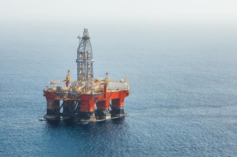 Offshore oil and gas platform royalty free stock image