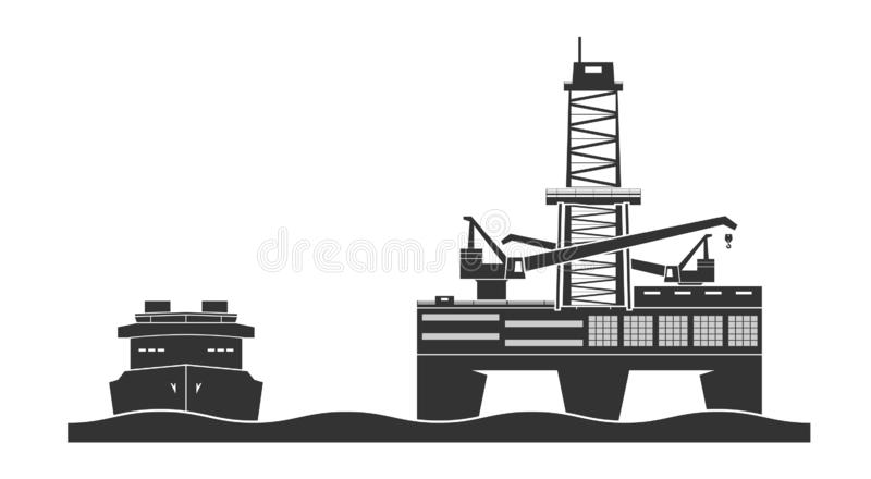 Offshore oil platform royalty free stock image