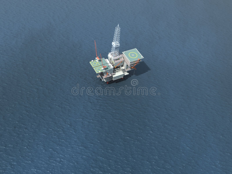 Download Offshore Oil Rig stock illustration. Image of industry - 261880