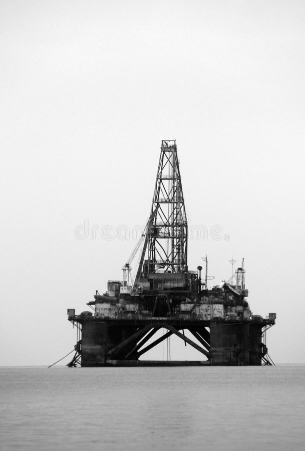 Offshore Oil Rig royalty free stock photos