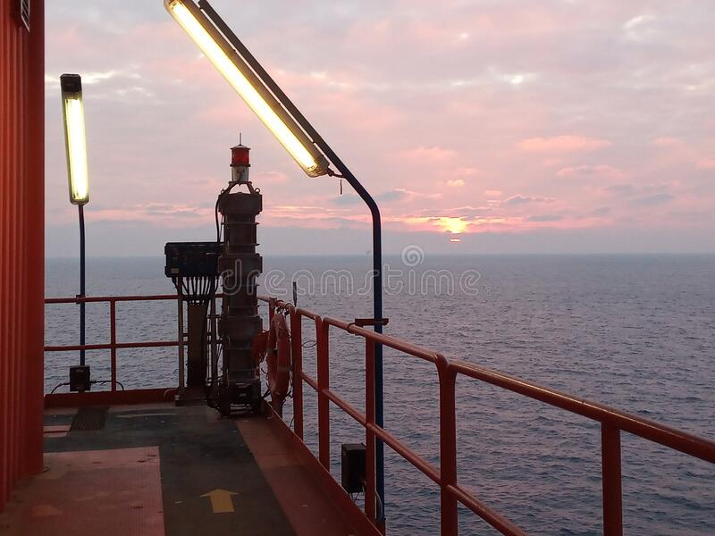 Offshore Oil Rig Platform. stock image