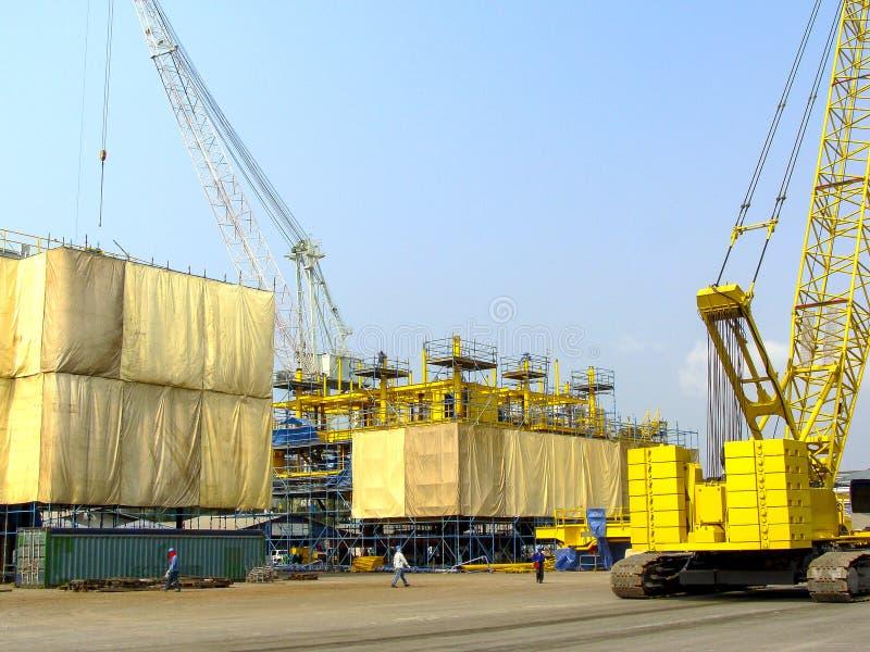 Rig platform during construction stock photos
