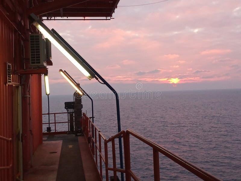 Offshore Oil Rig Platform. stock photos