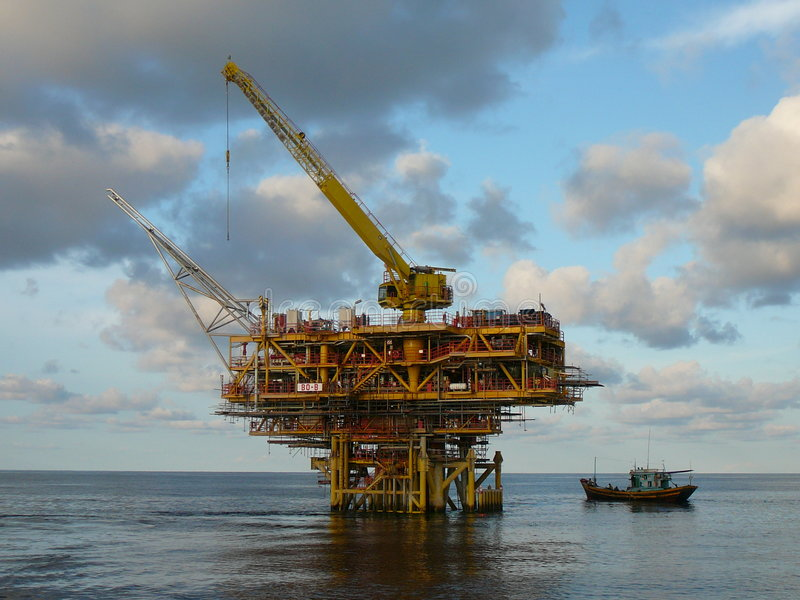 Download Offshore Platform stock photo. Image of offshore, blue - 8103034