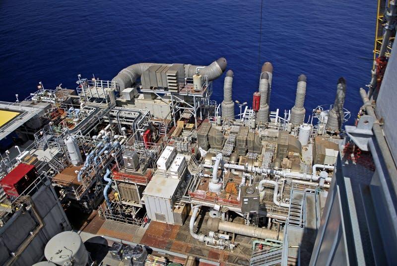 Offshore Platform Deck Area royalty free stock image