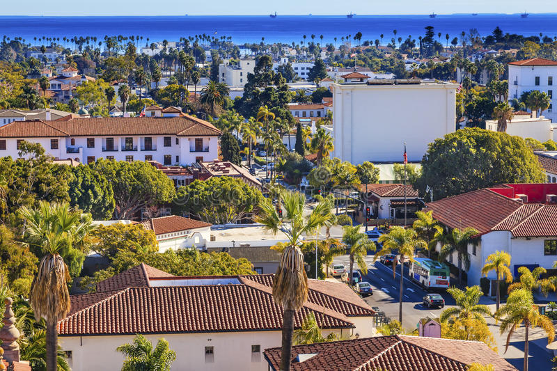 Download Offshore Platforms Courthouse Main Street Orange Roofs Buildings Stock Photo - Image: 39561607