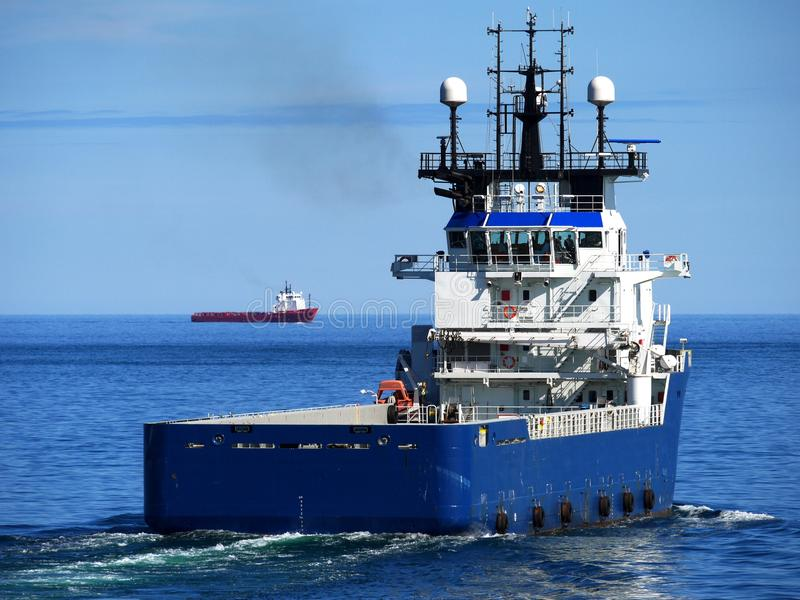 Offshore Supply Ship Stern royalty free stock photos