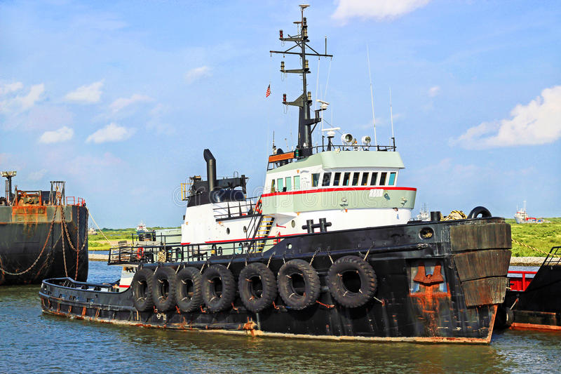 Offshore Tugboat. A tugboat in South Louisiana royalty free stock photos
