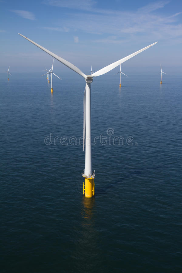 Offshore Turbine royalty free stock photography