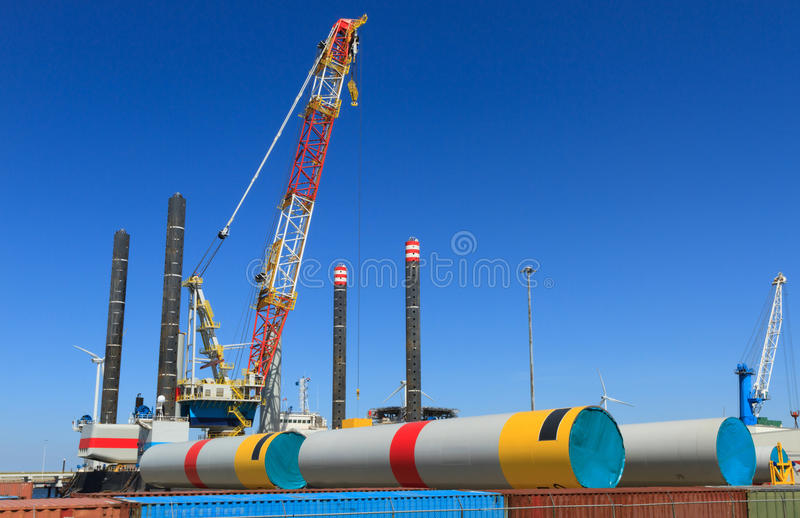 Offshore vessel stock image