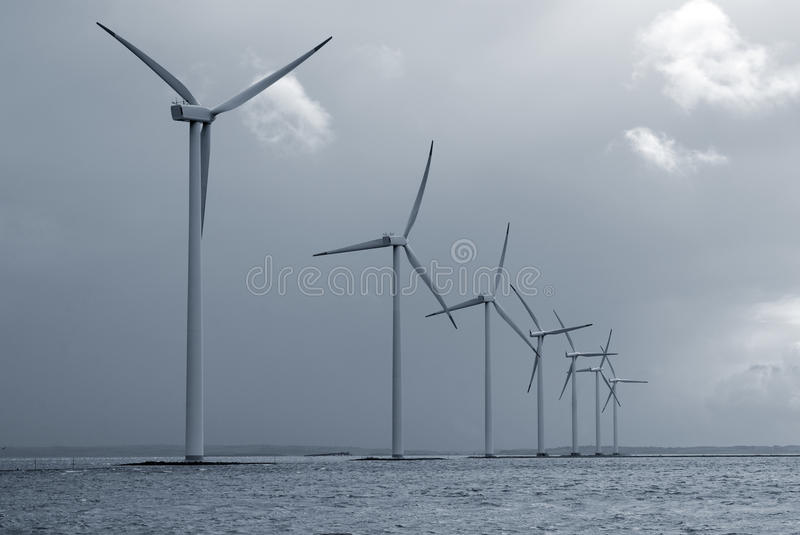 Offshore wind farm royalty free stock image