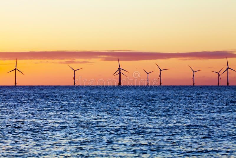 Offshore_wind_farm imagens de stock