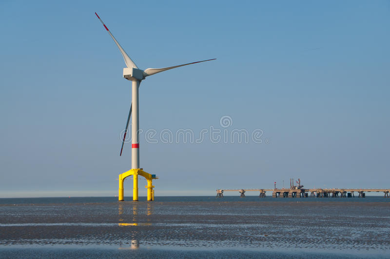 Download Offshore wind turbine stock photo. Image of industrial - 19387680