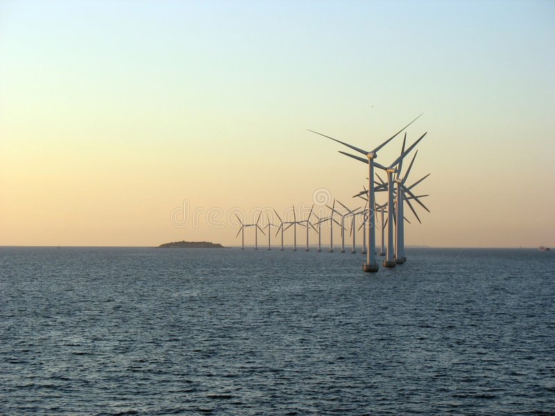 Offshore windfarm 1 royalty free stock photo