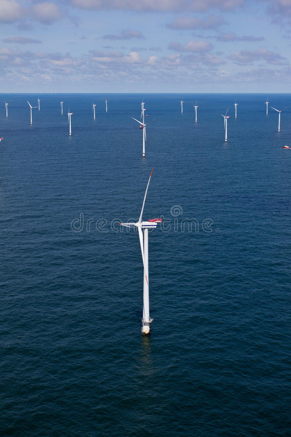 Offshore windfarm royalty free stock image