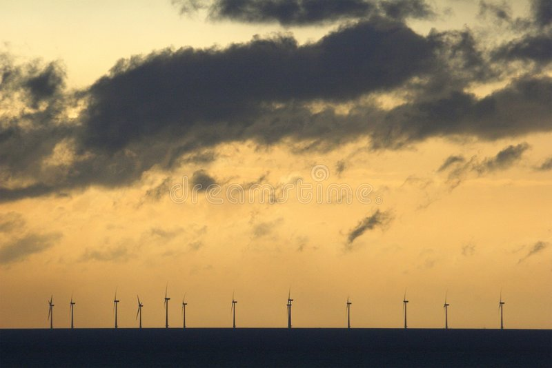 Download Offshore windfarm stock photo. Image of recycle, sunset - 877606