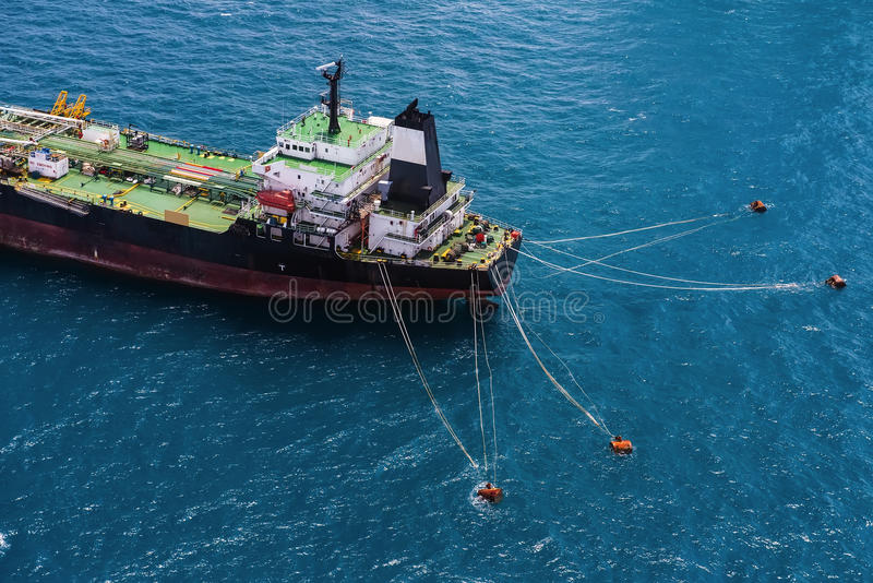 OffshoreBohrinsel der ölplattform lizenzfreies stockbild